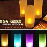 Wholesale Led Candles Tea Lights Wedding Party Flameless Cup
