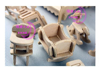 Wholesale 3D puzzle Stereo Wooden Furniture Woodcraft construction kit furniture Educational Toys