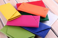 Wholesale 10 style Lady s PU Wallet Envelope wallets Fashion purse Promotion from gfgp china