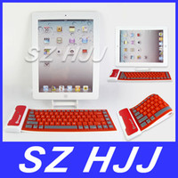 Wholesale Mini Silicone Flexible Wireless Bluetooth Keyboard Waterproof Keyboard For Tablet For ipad