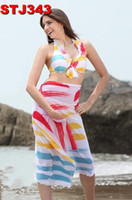Wholesale Women s Beach Scarf Sarong Cover Up Miss Swimwear Pareo Dress Pink Free Shpping
