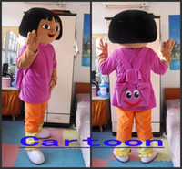 Wholesale Real Pictures Deluxe Dora Mascot Costume Fancy Dress factory direct