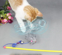 Wholesale Drop Shipping Pet Cat Toy The Dangle Mouse Rod Roped Funny Toy