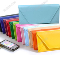 Wholesale Women s Lady Envelope Purse Clutch PU Leather Wallet Hand Shoulder Bag Card Holder Case Agood