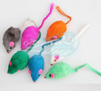 Wholesale Drop Shipping Cute Coloured Little Mouse Pet Toys For