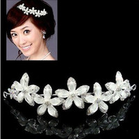 Wholesale Hair Ornaments headdress decorations wedding White flowers Wedding crown