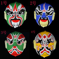 Wholesale Changing Faces of Chinese opera masks props flocking Beijing Opera facial makeup mask