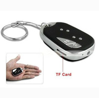 Wholesale MINI SPY CAR KEY HIDDEN CAMERA UPGRAD KeyChain DV DVR DC Video Recorder key chain Camcorder