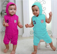 boys and girls 1t-3t 80 90 95  2012 new high-quality baby clothes baby Romper Teddy short-sleeved climbing clothes baby suit