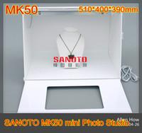 photo box - Free DHL shipping SANOTO branded MK50 Professional Portable Mini Photo Studio Photography Light Box