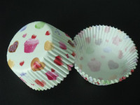 Wholesale 500pcs sweet heart amp cake with white color liners baking paper cup muffin cases for party favor