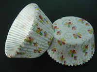 Wholesale 500pcs Flower vine with white color cupcake liners baking paper cup muffin cases for party