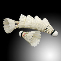 Wholesale New White Feather Shuttlecocks Badminton Pieces