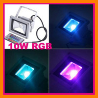 Wholesale 10pcs W RGB V LED Flood Wash Light Lamp Bulb with Remote Controller outdoor cheaporderl