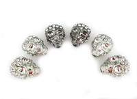 Wholesale Mixed Skull Loose Beads Charms Crystal Diamond Rhinestone Skull Beads Fit European Bracelet DIY pc