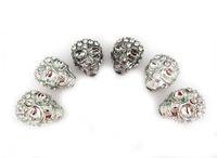 RHINESTONE - Mixed Skull Loose Beads Charms Crystal Diamond Rhinestone Skull Beads Fit European Bracelet DIY pc