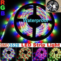 5m 300 leds Flashing SMD 3528 RGB Flexible LED Strip Light Waterproof IP65+24 key controller 50m lot