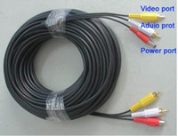 Wholesale 10M camera cable All In One video and power Cable with BNC RCA Converter