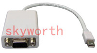 Wholesale Mini DP switch to turn VGA miniDP VGA Adapter Mini DisplayPort to VGA adapter cable