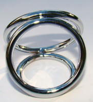Stainless Steel   Wholesale- Dildo Bondage Metal CBT Penis Ring Impotence Aid Enhancer Stainless Steel Cock Ring