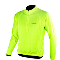 Wholesale Cycling Cycle bike Jerseys Fluorescent green yellow safty FLUID light lights FRTEAM Gloves