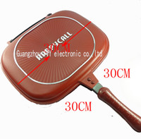 Wholesale Happy Call cm Deeper bigger Fry pan Double Side Grill Fry Pan With Grilling singapore and malaysia