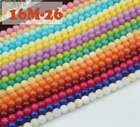 Wholesale Cool Natural MM MM MM round loose beads High quality cream colored jade loose beads