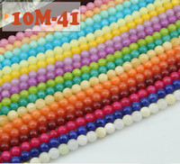 Wholesale 4MM MM Yellow agate Natural round loose beads High quality cream colored jade loose beads