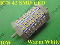 5pcs F33 R7s 118mm 42 SMD LED blanc chaud Ampoule halogène Lampe 10W 2800-3200K 600-650Lm