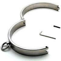Wholesale Quality Fetish Bondage Slave Steel Collar Dia cm cm thick Stainless Steel Neck Collar