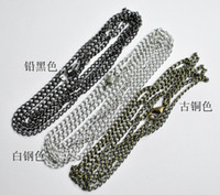 Wholesale DIY parts jewelry necklace chain cm inches Lobster clasp cable chain necklaces mix colours