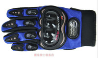 Wholesale BLUE PRO BIKER full finger refers to ride a motorcycle racing gloves hard shell quality good