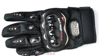 Wholesale Black PRO BIKER full finger refers to ride a motorcycle racing gloves hard shell quality good