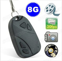 Wholesale 8GB Mini Hidden Camera Keychain Spy Camera Car Key Chain DVR Digital Video Audio Recorder fps