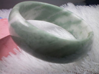 Wholesale NATURE BEAUTIFUL GREEN JADE JADEITE BRACELET BANGLE MM
