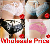 Wholesale Sexy Lace thong lingerie Panties Briefs Underwear Lady s sexy underwear women s sexy underwear
