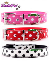 Collars leather supplies wholesale - Fashion Polka Dot Dog Pet Collar PU leather Personalized Dog Pet Collar Pet Supplies Pet Accessory Pet Product off for