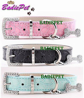 Collars best selling pet products - Best Selling off for Personalized Bone Charm Popular Classic Croc PU Leather Dog Pet Collar Pet Product Pet Supplies
