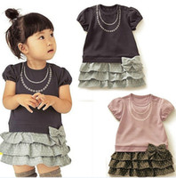 Wholesale 2012 New B2W2 Korea Children s clothing Female models Korean dress Two piece set Child Suite