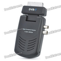 Wholesale H Scart DVB T HD Digital Terrestrial Receiver w Remote Controller