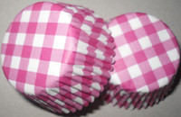 Wholesale 800pcs pink red with white cross stripes cupcake liners baking paper cup muffin cases for party