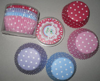 Baking Cups cupcake liners - 2000pcs four color with white dots mix cupcake liners baking paper cup muffin cases for party