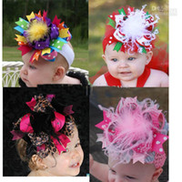 Wholesale hair bows headband head bands hairbows hair accessories grosgrain hair clips hair bow satin flowerZZ