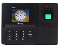 Wholesale Biometric Fingerprint Time Attendance Recorder Clock SYSTEM Best Price Classical Appearance ZDC30 S347