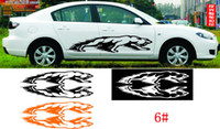 Wholesale 20PCS PR CM reflective material large whole Car decal stickers Vinyl Stickers Custom Sticker