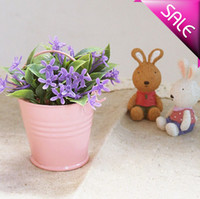 tin buckets pails - Pink tin pails mini pails cute mini bucket candy boxes package for decoration