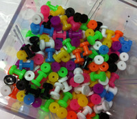 Wholesale 8sizes Mix Multicolored Acrylic Flesh Tunnels Tunnel Ear Plug Rings Body Piercing Jewelry