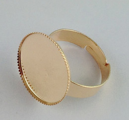 60PCS Rose Gold plated Ring Base Blank Glue-on 18mm #20832