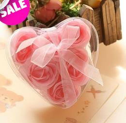 Wholesale boxes Rose Flower Bath Body Soap Rose Paper Soap Soap rose petals favors wedding favors party favors