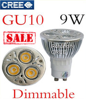 85-265V 9W White On sales 10X GU10 CREE Dimmable 3x3W 9W LED Spot Light Bulb Spotlight spot lamp 110v 220v 240